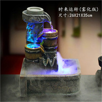 Rockery water fountain feng shui wheel desktop decoration home decoration bonsai crafts