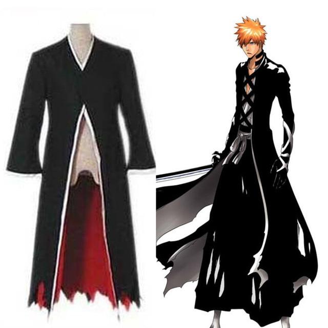 Anime Bleach Cosplay Ichigo Kurosaki Bankai Costume Man Fancy Cosplay  Costume Adult Cloak Black Halloween Christmas