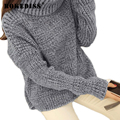 Women Tops Autumn Winter Warm Knitted Sweater Women's Pullover Sweaters Female Turtle Neck High Neck Casual Pullovers TG379