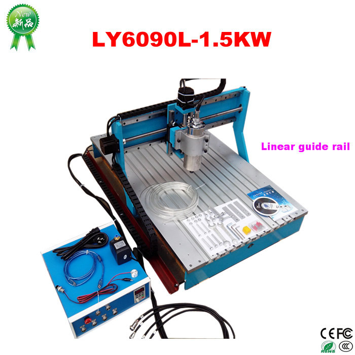Woodworking Machinery 6090 CNC Wood Carving Machine with linear guide rail , no tax to Russia no tax to russia miniature precision bench drill tapping tooth machine er11 cnc machinery