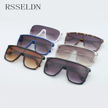RSSELDN Square Oversized Sunglasses Women Fashion Sun Glasses Lady Brand Designer Vintage Shades Gafas Oculos de sol UV400