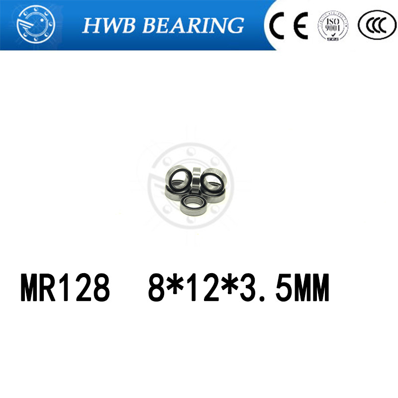 Free Shipping 10pcs <font><b>MR128ZZ</b></font> MR128 ZZ MR128-2Z 8X12X3.5 mm Deep groove Ball Bearings Miniature Bearing MR128 / L-1280 ZZ image