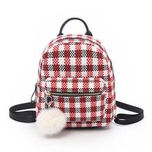 Women Mini Fashion Backpack Gird Pattern Backpacks for young Girls Mochila Escolar Female Ruckasck