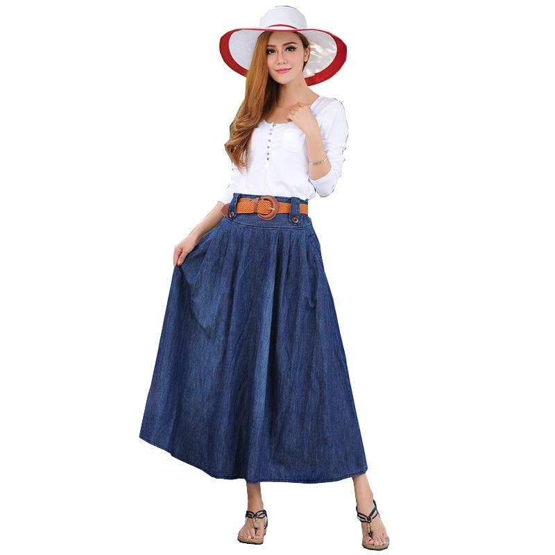Online Get Cheap Denim Long Skirts -Aliexpress.com   Alibaba Group