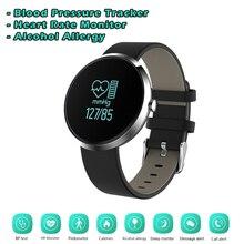 Новый S10 артериального давления трекер SmartBand здоровья женщин Смарт Часы Heart Rate аллергия алкоголь Фитнес браслет V06 браслет