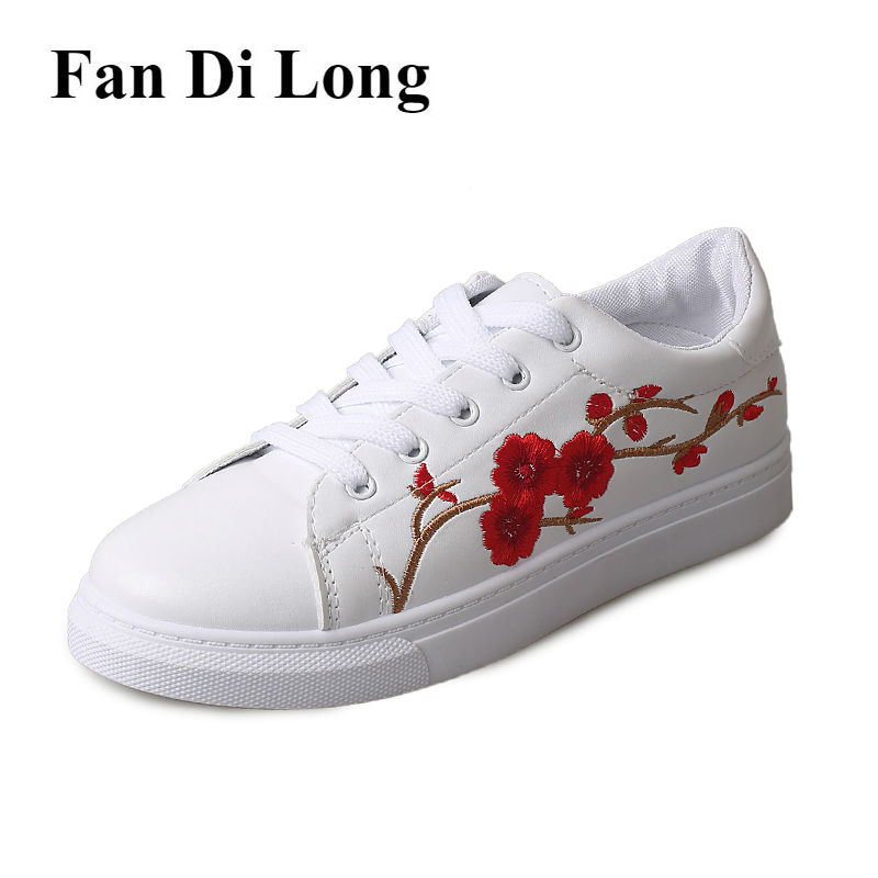 White Women Casual Shoes Leather Walking Shoes Breathable Girls Flats Women Outdoor Trainers 2017 zapatillas deportivas mujer hot sale new 2017 fashion flats women breathable sport woman shoes casual outdoor walking women flats zapatillas mujer
