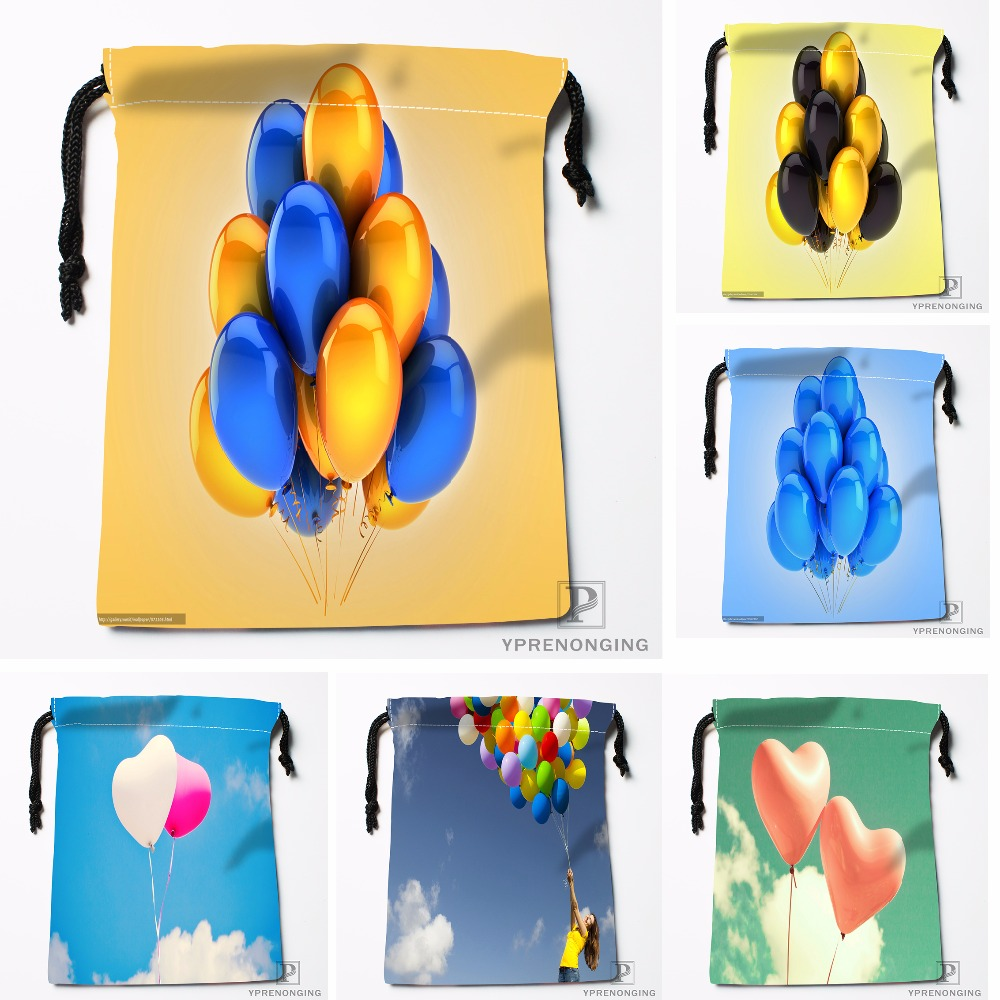 Custom Stay Teen Balloon Flying Away Drawstring Bags Travel Storage Mini Pouch Swim Hiking Toy Bag Size 18x22cm#0412-04-04