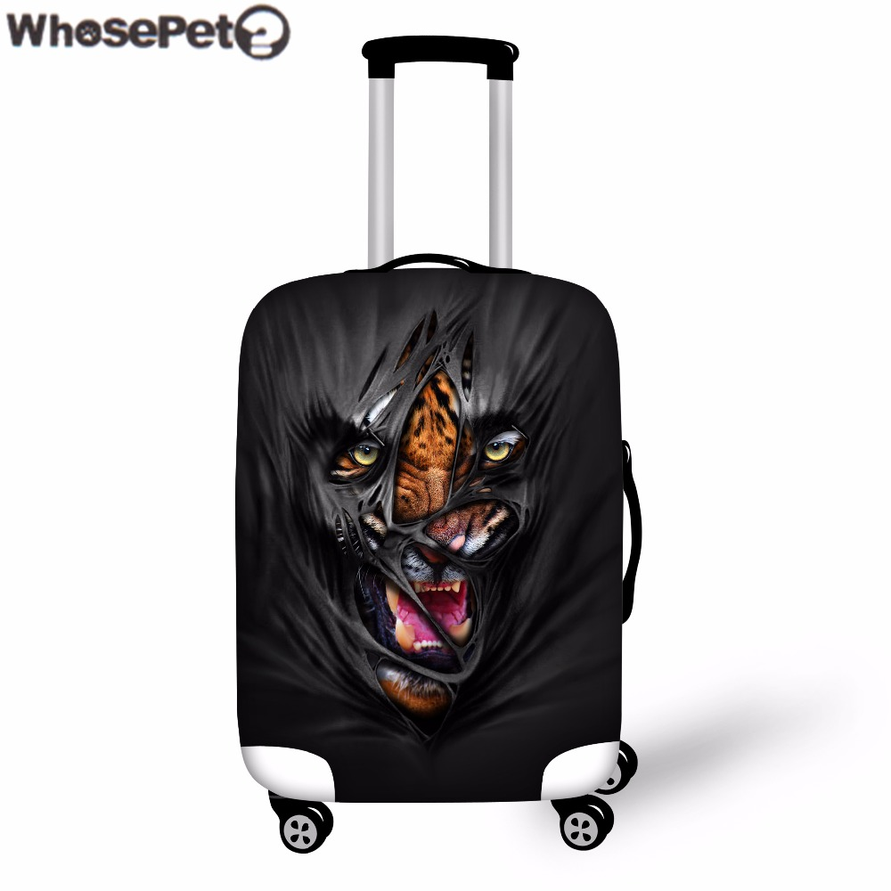 WHOSEPET Novelty 3D Beast Printing for Travel Accessories for 18-30 Inch Travel Case Protection Stretchable Dustproof Covers