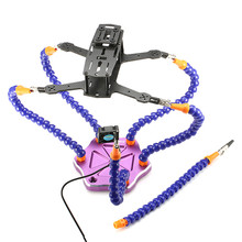 Realacc Strange Third Hand Six Arm Soldering Station With USB Fan For RC Camera Drone Accessories