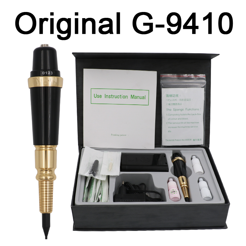 цены Professional Taiwan Original G-9410 Giant Sun Permanent Makeup machine Tattoo Gun With 50Pcs 1R Needle 50Pcs 1R Needle Tips