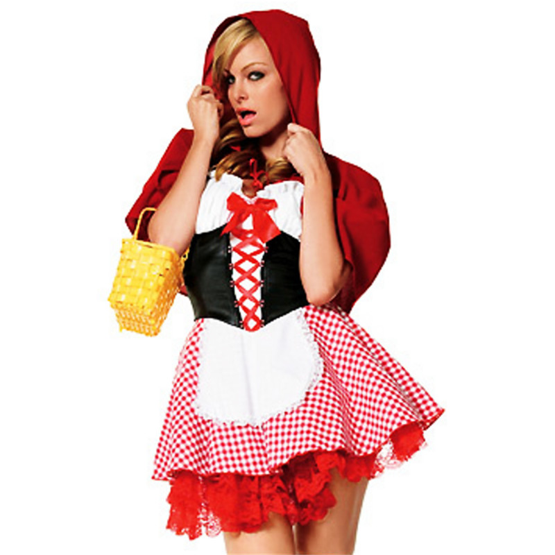 Halloween fairy princess dress Christmas witch kirt adult Little Red Riding Hood cosplay costume Europe sexy maid game uniforms