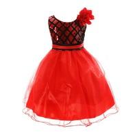 Summer Girl Bow Flower Evening Dress Princess Birthday Party Short Mesh Kids Baby Dresses Vestido De