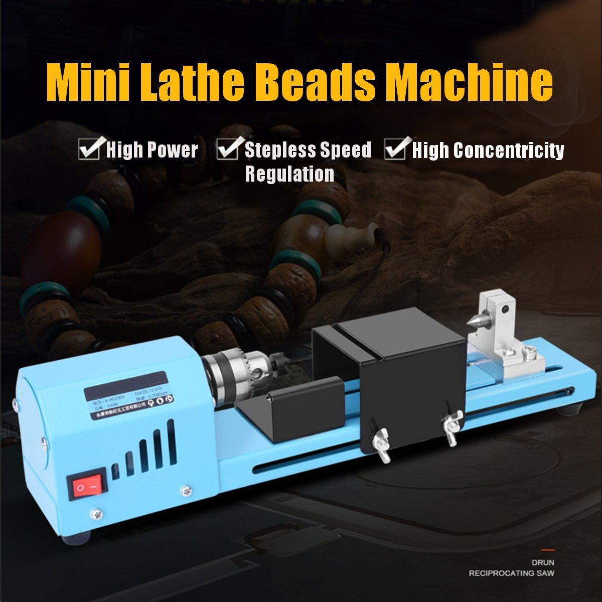 150W bricolage tour à bois à bois Mini tour Machine-outil fraiseuse meulage perles de polissage perceuse outil rotatif tour Standa