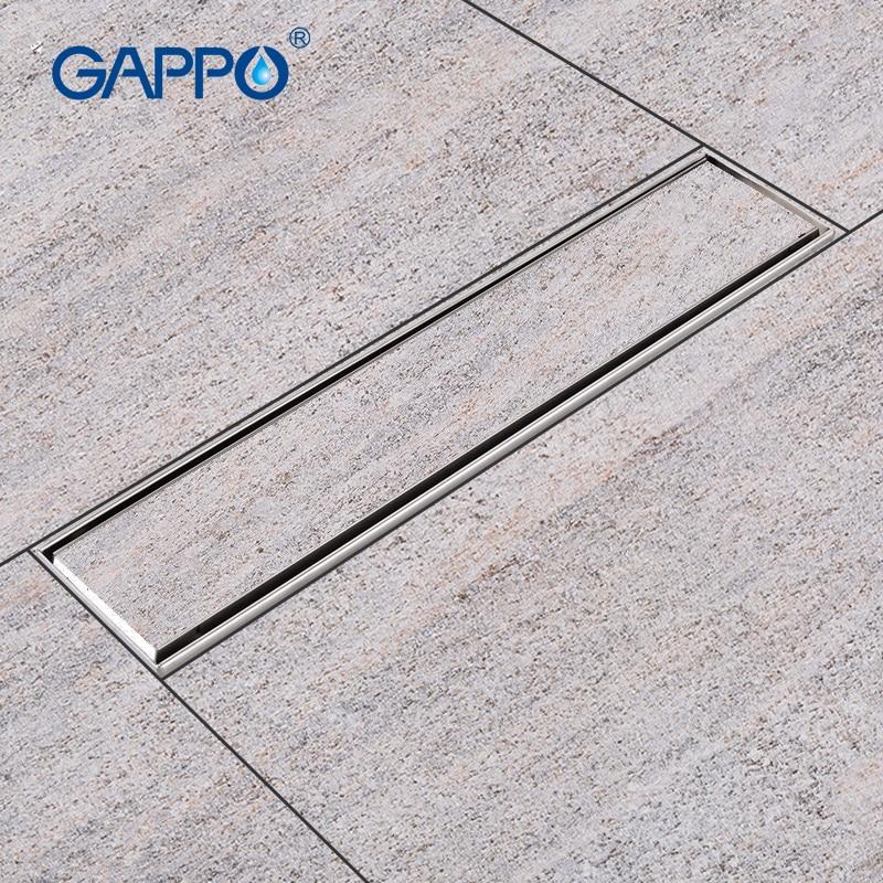 GAPPO Drains stainless steel recgangle bathroom floor cover shower drain strainer floor floor drains shower room цена