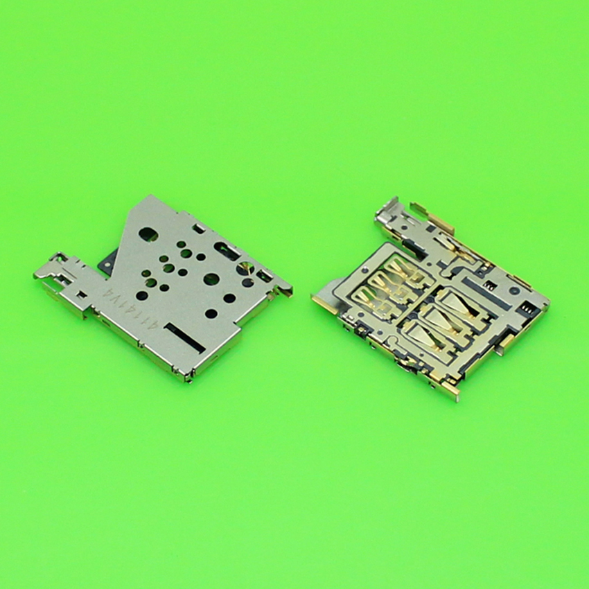 2pcs/Lot Brand New For Nokia Lumia 1520 Sim Card Reader Holder Tray Slot Socket Connector