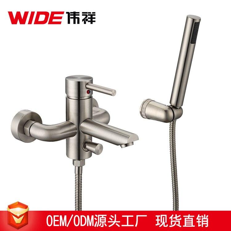 Смеситель для ванны медный смеситель клапан управления Переключатель краны в стену ванная комната простой душевой набор тройной кран с вод