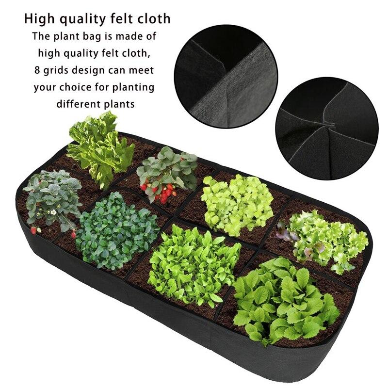 Potato Planting Bags Cultivation Garden Pots Planters Vegetable Planting Bags Grow Bags Farm Home Garden Supplies 90x180x30CM