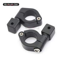 Universal 25mm Driving Aux Lights Supporter Fog Lamp Bracket Motorcycle Accessories Motos Mount Left And Right Black