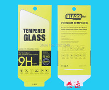 500pcs/lot 189*88mm Green Universal Paper Retail Package Packaging Box For Cell Phone 9H Tempered Glass Screen Protector Film