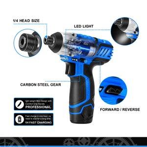 Image 3 - 12V Cordless Elektro schrauber Drill Maschine Ratsche Power Tools Elektrische Hand Bohrer Universal Batterie durch PROSTORMER