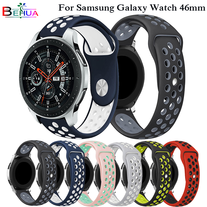 Sport Silicone Strap For Samsung Galaxy Watch 46mm SM-R800  Colorful Band Wrist Strap Bracelet Smart Wristband Smart Accessories