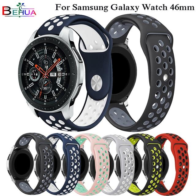 Sport Silikon strap für Samsung galaxy watch 46mm SM-R800 Bunte Band handgelenk Strap Armband Smart Armband Smart Zubehör