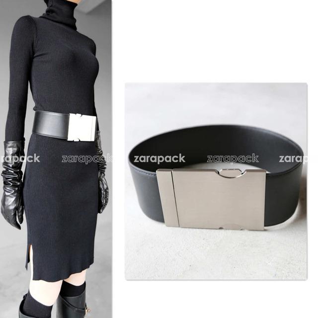 Firma del diseñador de Moda de Las Mujeres de La Pu de Cuero de Metal de Bloqueo Declaración Runway Cinturón Cinturón