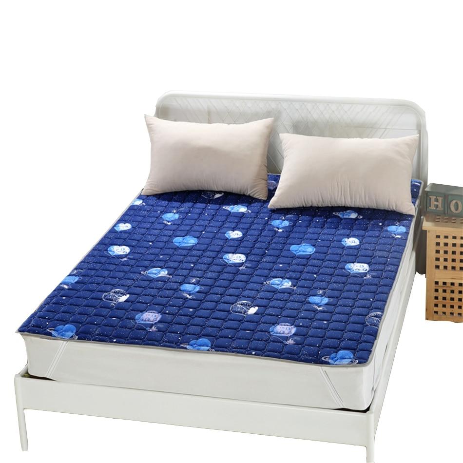 Queen Mattress Protector Protect a Bed Blue Fabric Mattress Cover Modern Design Protector Mattress Cheap Bed Sheet Protector