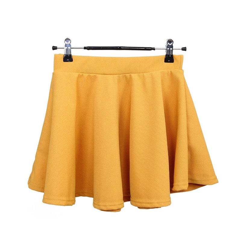 Womens Plain Skort Shorts Mini Skirts Party Club