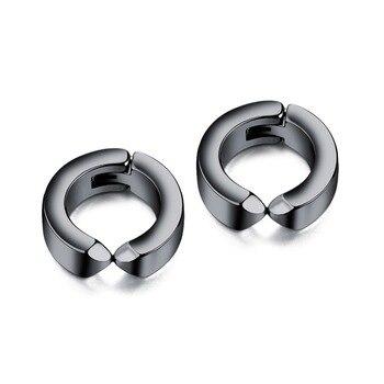 Punk Classic Stainless Steel Hoop Earring For Man Women steel black earring Jewelry Gift DropShipping.jpg 350x350 - Punk Classic Stainless Steel Hoop Earring For Man Women steel/black earring Jewelry Gift DropShipping