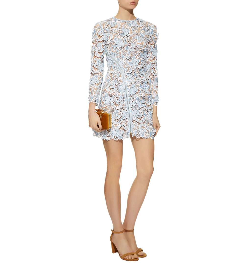 2019 new arrive spring long sleeve flower dress