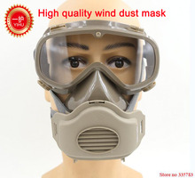 YIHU respirator dust mask One-piece protective glasses respirator mask dust smoke particle safety protect full face respirators