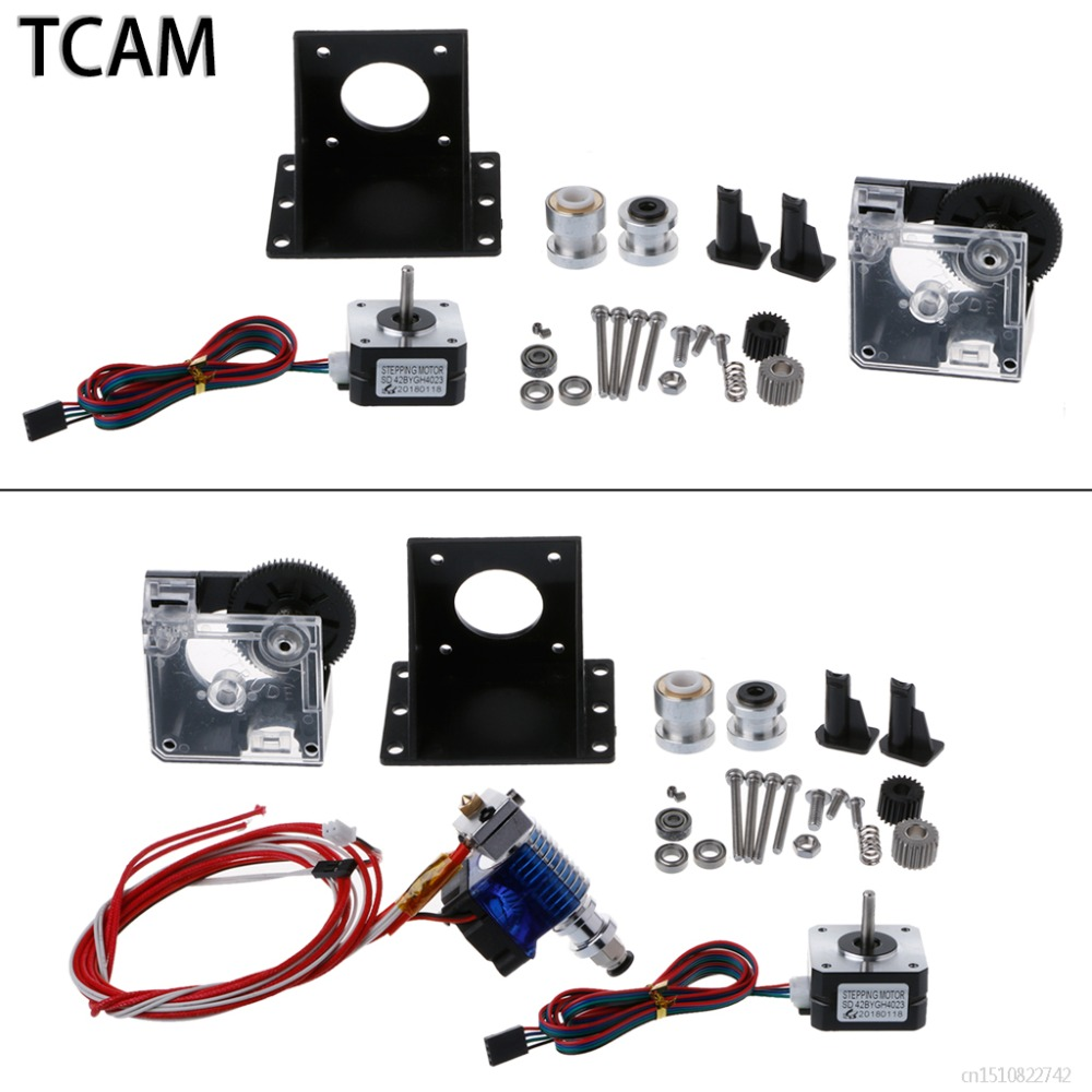 TCAM Titan Extruder Fully Kits for Titan Extruder for 1.75mm+Nema 17 Stepper Motor+V6 Bowden Extruder for 3D printer part 3d printer parts tevo black widow titan step motor for titan extruder 3d printer extruder 42 42 23mm for j head bowden