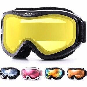 Image 1 - סקי משקפי, חורף שלג ספורט עם נגד ערפל כפול עדשת סקי מסכת משקפיים סקי גברים נשים שלג משקפי