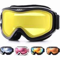 Lunettes de Ski, Sports de neige d'hiver Snowboard avec Anti-buée Double lentille masque de ski lunettes Ski hommes femmes neige snowboard lunettes