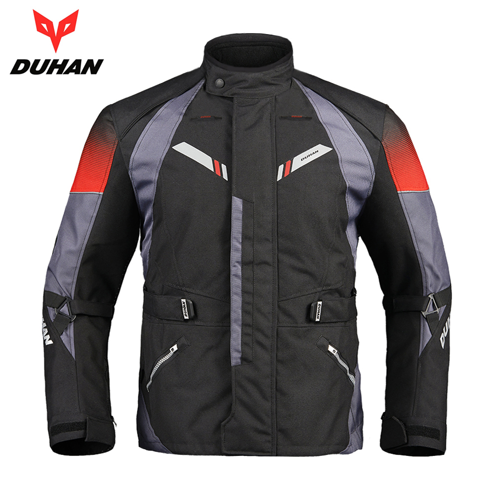 DUHAN Motorcycle Jacket Men Autumn Winter Touring Moto Jacket Protective Gear Waterproof Cold-proof Motorbike Riding Clothing is new skiip37nab12t4v1 semikron igbt module
