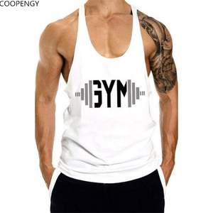 c6cb93a69 New men Tank Tops Sleeveless Undershirt gyms fitness Mens casual Cotton  Print Sling Vest Man Clothing