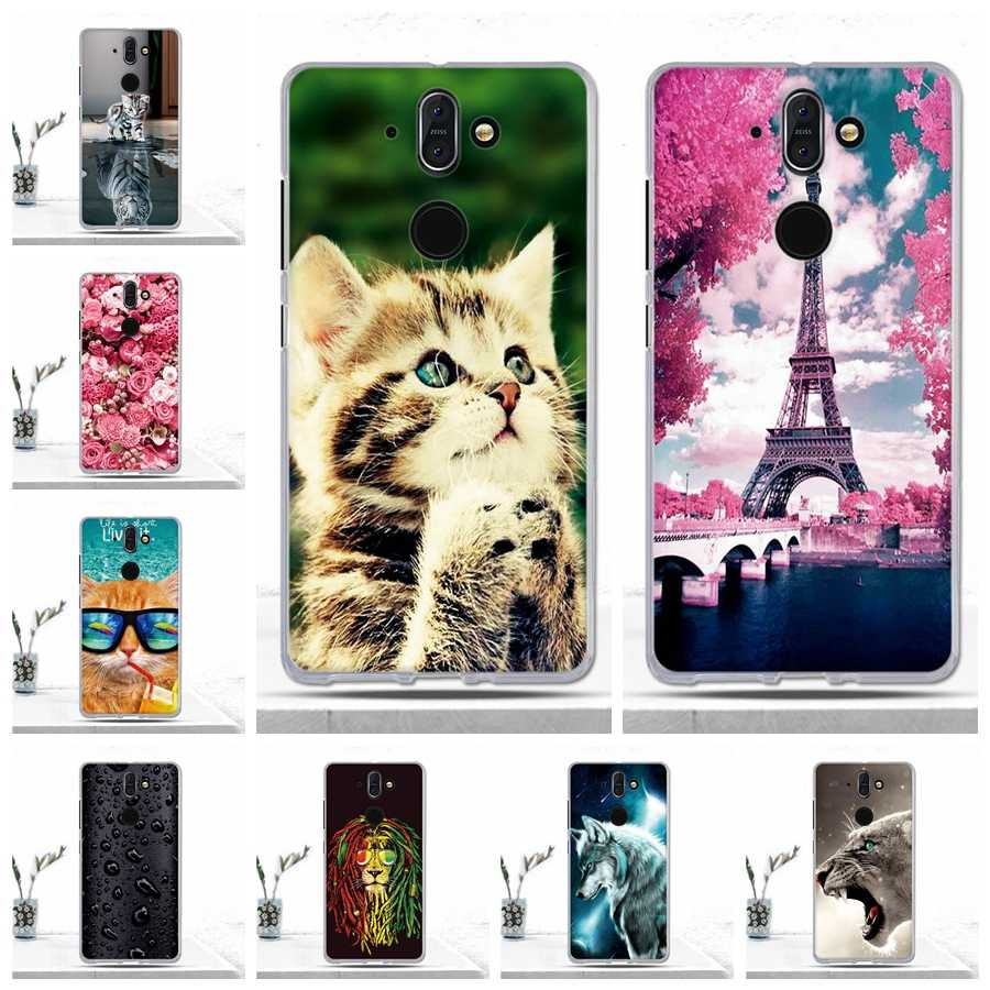 Soft TPU Case for Nokia 8 Sirocco Case Cover Silicon Luxury Animal Cat Dog Protective Phone Cover for Nokia 8 Sirocco Cover Case