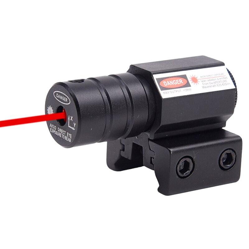 Tactical Red Beam Dot Laser Sight Scope Gun Rifle Pistol Picatinny Rail Mount