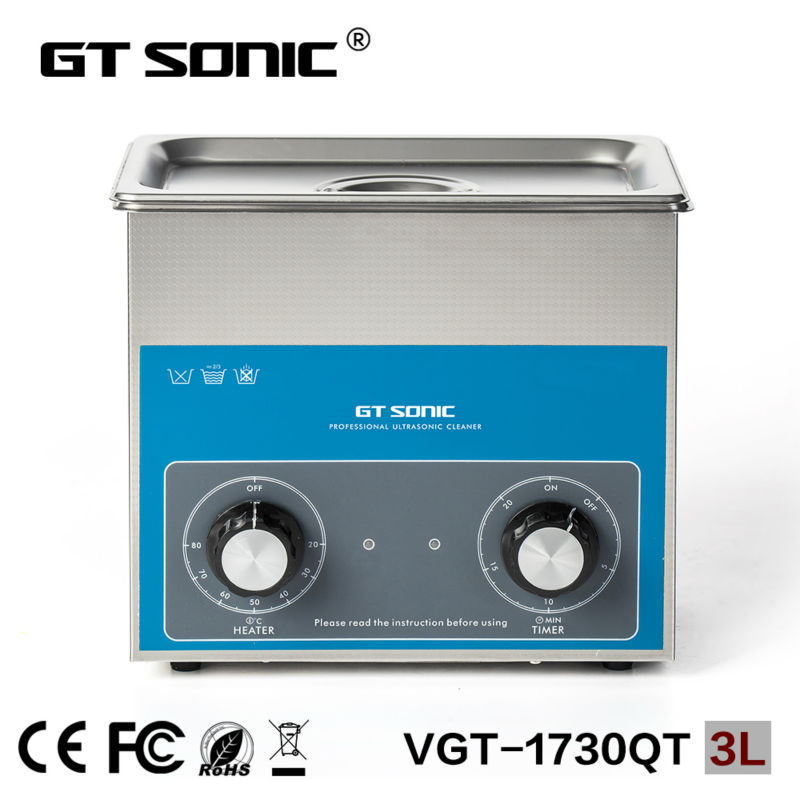 GT SONIC Ultrasonic cleaner  sterilizing tattoo instruments ultrasonic cleaning machine tools cleaning equipment  VGT-1730QT