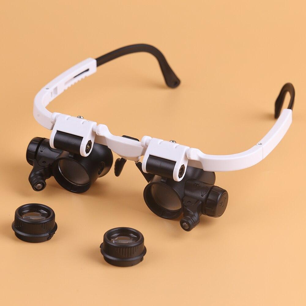 BIJIA 8X 15X 23X lupa reloj reparación gafas lupa con 2 luces LED