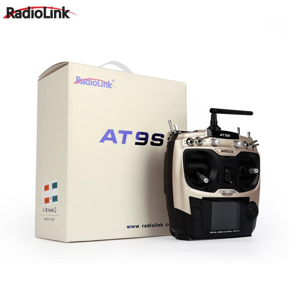 1 pièces Radiolink AT9S 2.4G 9CH transmetteur système avec récepteur R9DS AT9 télécommande mise à jour vision pour hélicoptère quadrirotor