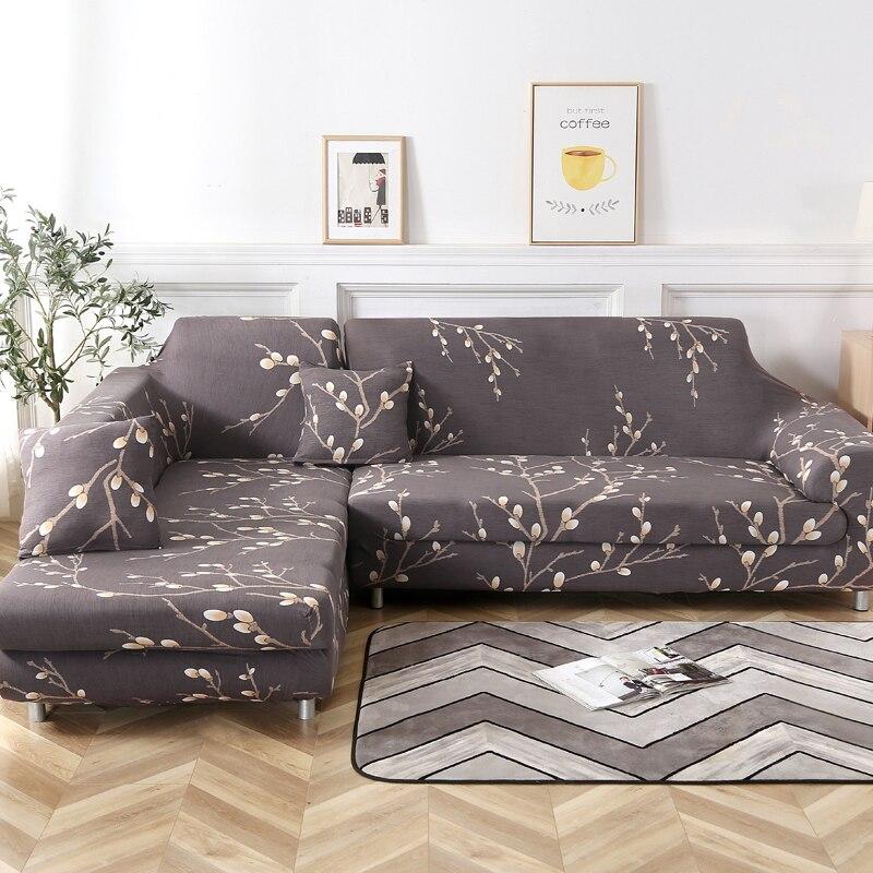 Sofa-Covers Stretch Corner Loveseat Elastic Living-Room for Polyester