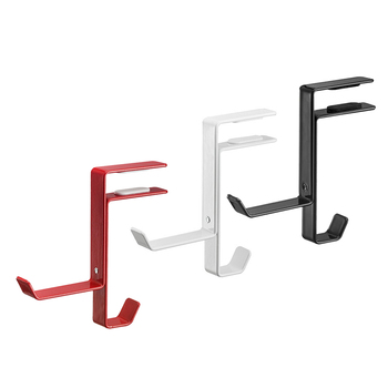 Universal  L Shape Wireless Headset Hanger Stand Holder Hook Table Clamp Clip With Stick Wall PC Desk Display Headphone Bracket