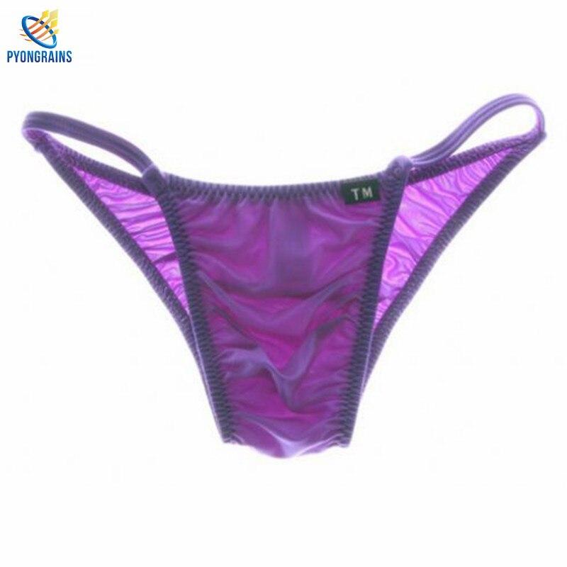 2016 Männer Nylon Briefs Faszinierende Elastische Unterhosen Männer Sexy Atmungs Cueca Homosexuell Komfortable Homosexuell Männer Unterwäsche Bikini Verkaufsrabatt 50-70%