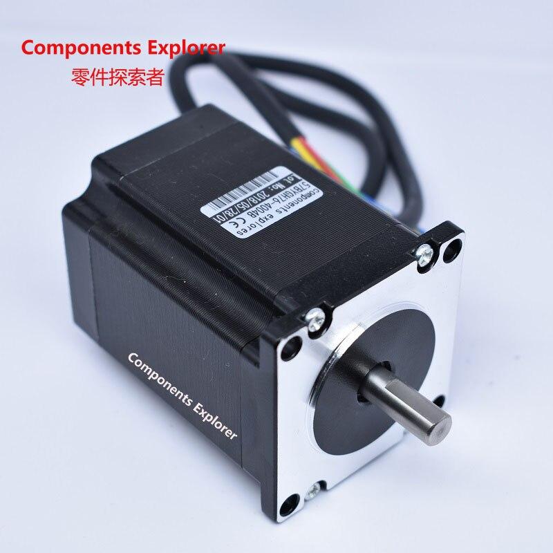 nema23 Double Shaft Stepper Motor for Bespoke Ball Screw or Lead Screw body 76mm for CE ROSH ISO CNC Laser and 3D printer nema23 linear stepper w 310mm tr10 4 lead screw for 3d printer desktop straight screw motor