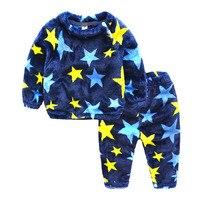 Roupa das crianças Conjuntos de Roupa de Dormir de Pijama Bebê Pijama de Inverno Fille Sleepwear Kigurumi Roupa Dos Miúdos Pijamas Quentes 70N016