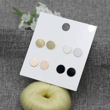 2018 New 4Pairs/set Round Stud Earrings Set Statement Wedding Waterdrop Brincos Jewelry For Women Bijoux Geometric