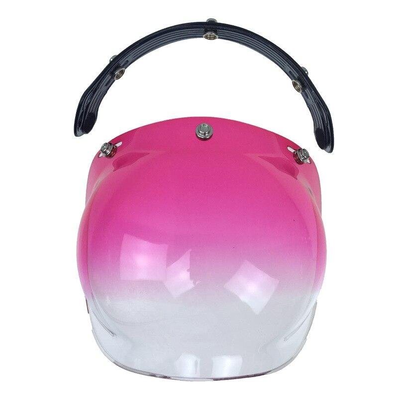 high quality face helmet visor vintage motorcycle helmet bubble shield Harley Helmet Extra Helmet Windshield 13