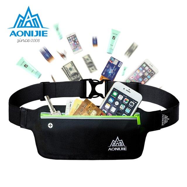 AONIJIE Runnning Waist Bag Men Women Sport Waist Pack Jogging Gym Fitness Running Belt Bag Phone Holder Sport Accessories 2